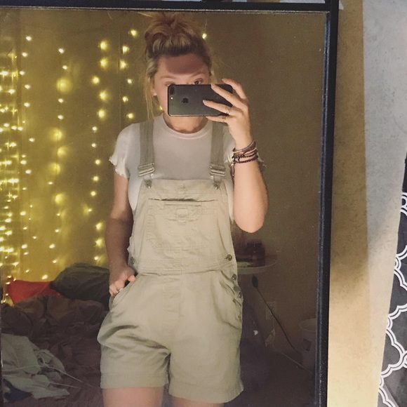 Other - khaki overall shorts